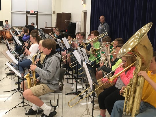 The York Junior Symphony Orchestra rehearses at Penn