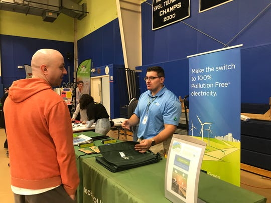 Green Mountain Energy based in Houston, Texas had a booth at the Poughkeepsie Mini Maker Faire.