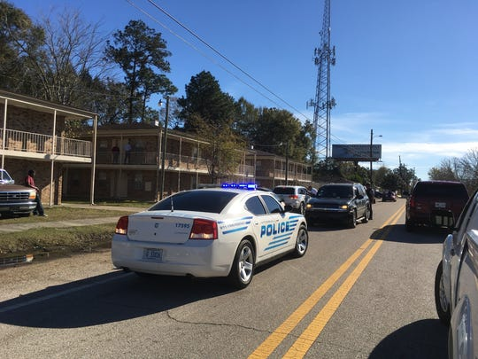 Hattiesburg police respond to a shooting Monday at