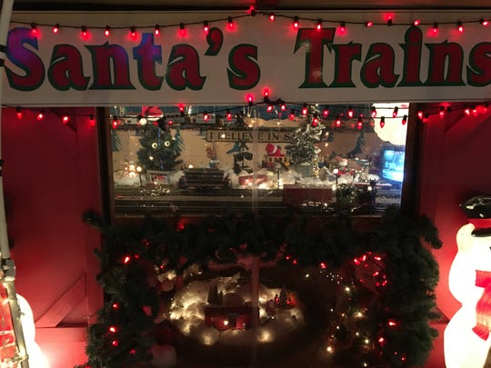 Newport resident Frank Peluso has a working train display