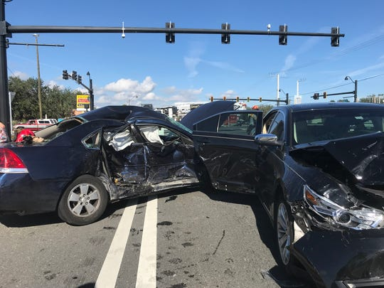 A 2-year-old female and 1-year-old male were sent to the hospital after a vehicle crash on US 1 in Cocoa on Dec. 18, 2017. The female child was sent to the trauma center in Orlando for serious injuries. The other child was also sent to the trauma center as a precaution. Both children were secured in child restraint seats.
