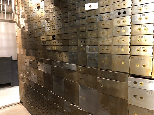 Safety deposit boxes inside one of the four vaults