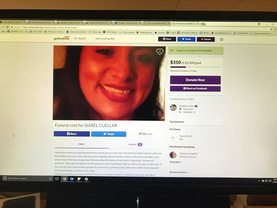 A GoFundMe Page was set up for Isabel Cuellar, 35.