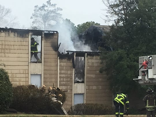 Two people were found dead in a two-alarm fire at the Clearbrook Village Apartments near Winchester Road in East Memphis on Thursday, Feb. 22, 2018.