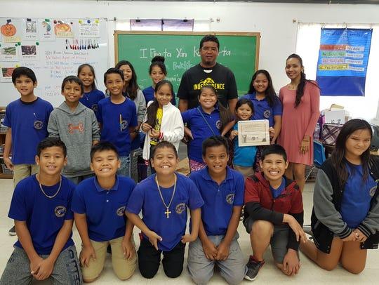 The fifth-grade students of M.U. Lujan Elementary School