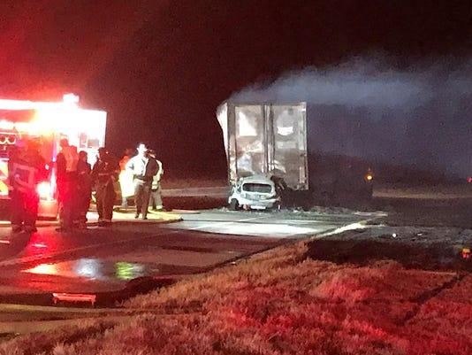 Crash near Iowa Park