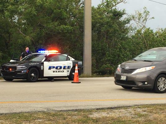 Crash blocks one lane on Indian River Boulevard