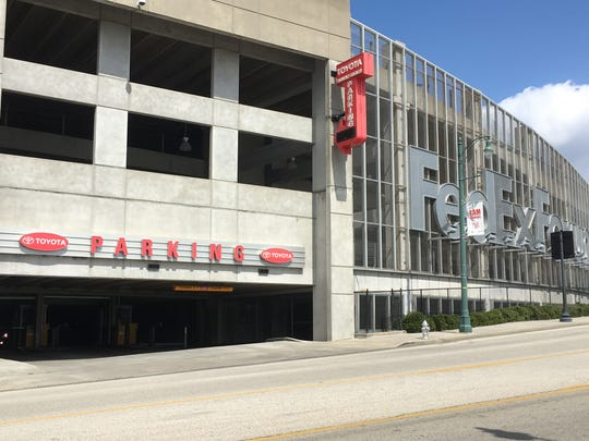 The Toyota parking garage by FedExForum.