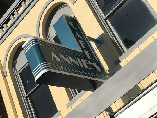 The new sign for Annie's Fountain City Cafe is retro-style,