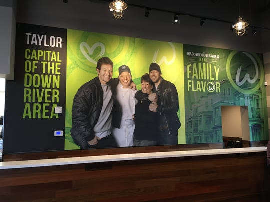The inside of Wahlburgers in Taylor is pictured April