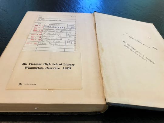 "Pulitzer Prize-winning photojournalist John Kaplan checked out this copy of ""To Kill a Mockingbird"" from the Mount Pleasant High School library in 1975. He returned the overdue book Friday, 43 years later."
