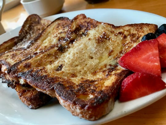 French toast served with fruit at A Taste of Jersey