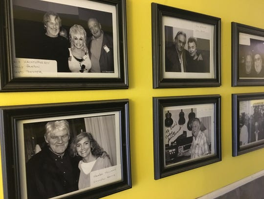Old pictures of country stars who've eaten at The Pie
