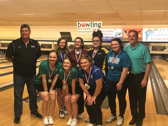 The ladies of the Greater Girls Catholic League won first place at the 2018 all-star bowling tournament, sponsored by Colerain Bowl and St. Xavier High School Aug. 29
