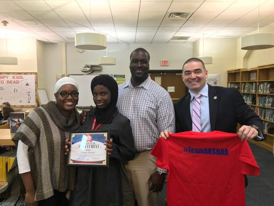 West Middle School student Cormari Wachuku was recognized