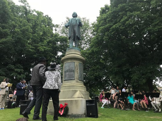 Wreath laying ceremony for Frederick Douglass