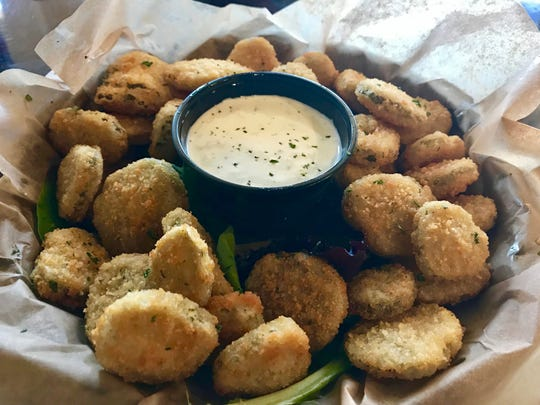 Fried pickles ($7) are a wise choice for an appetizer