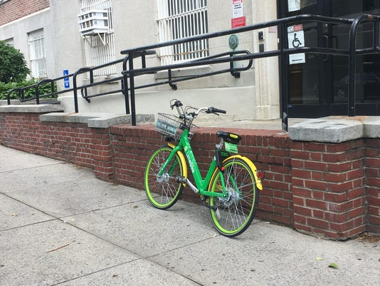 Lime bike in Mount Vernon