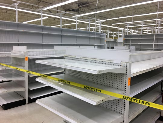 "Shelves lay bare as Toys ""R"" Us stores across the country"