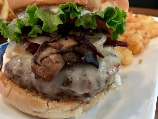 The Shroomin' burger at Burger Republic has mushrooms