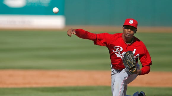 Raisel Iglesias made his spring training debut for the Reds on Wednesday.