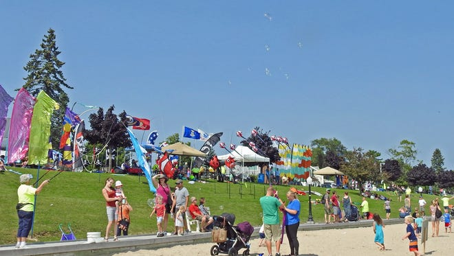 People from near and far gather along the Lake Michigan shoreline in Algoma for last summer's Soar on the Shore kite festival. It's one of the events that helped Kewaunee County see a 13.41-percent increase in direct visitor spending from 2016 to '17.