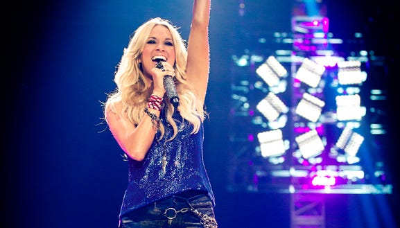 "Carrie Underwood sings the theme song for the new season of NBC's ""Sunday Night Football."""