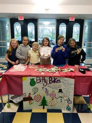 BGA fifth graders Lexi Topping, Maddie Hill, Lucy Childs, Ava Graddy, Avery Cloud, Laurel Phelps organized a bake sale to raise money for the Penny Drive for Second Harvest.