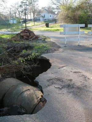 Burris Street near Anderson has been closed on one end because it needs major repairs.