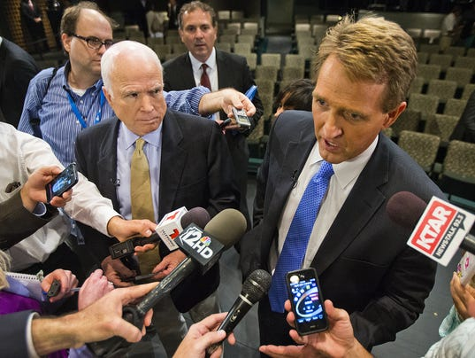 John McCain and Jeff Flake