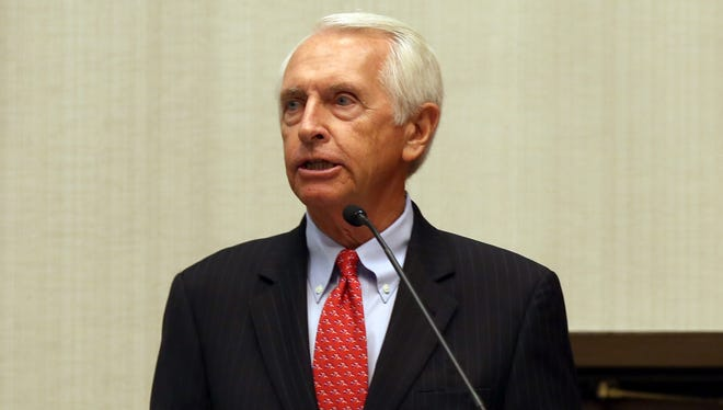 Steve Beshear, Kentucky governor, speaks at a luncheon during the National Urban League Conference. The Enquirer/Cara Owsley