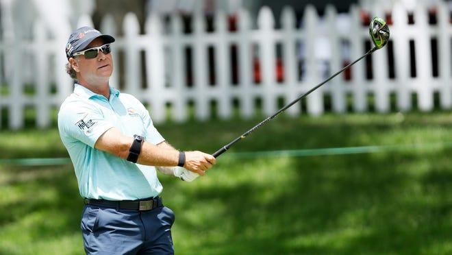 Scott McCarron at the 2019 PGA Tour Champions Principal Charity Classic in Des Moines, Iowa. (Charlie Neibergall/Associated Press)
