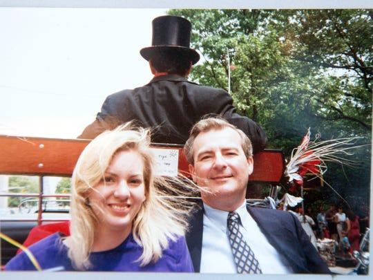 Jill Viles and her father Robert Dopf.