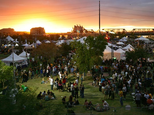 The annual Tempe Oktoberfest at Tempe Beach Park features polka bands, family entertainment and carnival rides.