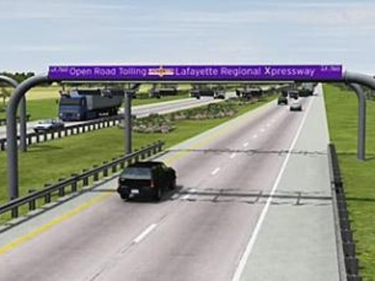 The Lafayette Metropolitan Expressway 2005 feasibility study's rendering of a proposed expressway.