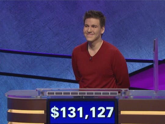 """Jeopardy!"" contestant James Holzhauer on an episode"