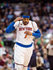 Forward Carmelo Anthony has a no trade clause with the Knicks, but the organization is shopping their star player around.