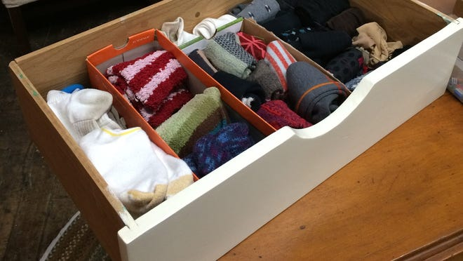 Drawer dividers keep my socks easily accessible.