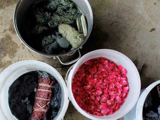 natural dye bath