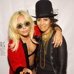 Linda Perry, right, poses with Lady Gaga.
