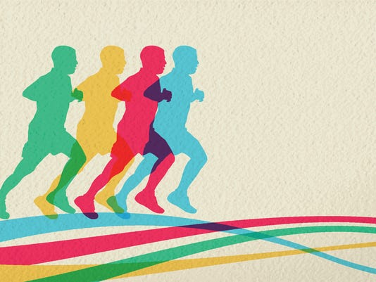 Run sport people silhouette concept background