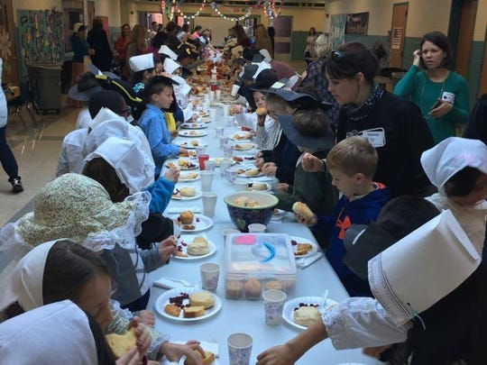 Second grade students at Francis A. Desmares School enjoyed a Colonia day celebration