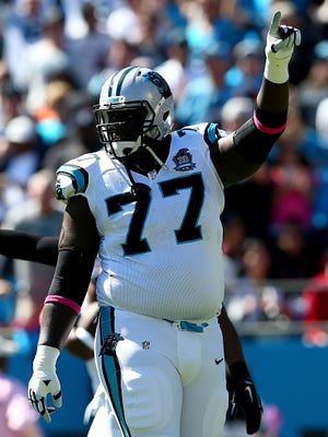 The Titans signed former Panthers tackle Byron Bell to a one-year contract.