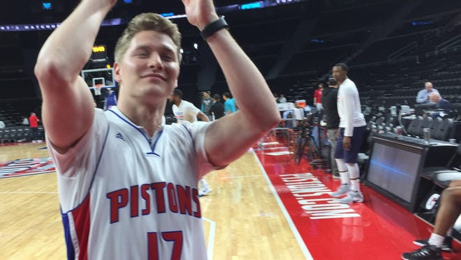 IndyCar driver Josef Newgarden at the Palace on Feb. 23, 2017.