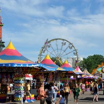 The Mighty Thomas Carnival midway operates at the Montana State Fair.