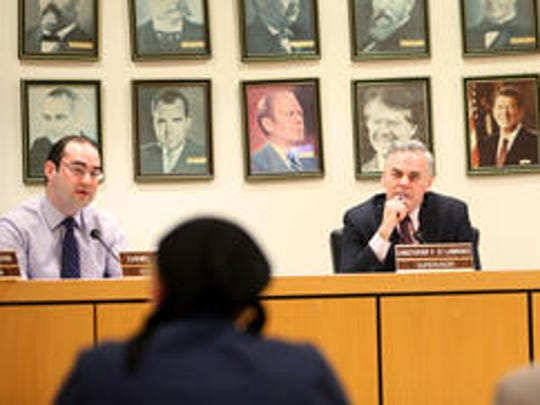 Then-Ramapo Councilman Daniel Friedman, left, and Town