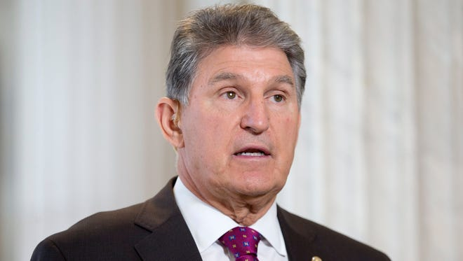 Democratic Senator from West Virginia Joe Manchin participates in an interview for television on Capitol Hill in Washington, DC, USA, 17 October 2017.