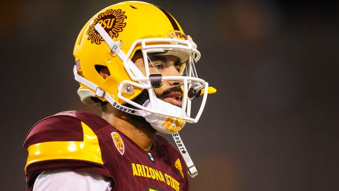Arizona State quarterback Manny Wilkins.