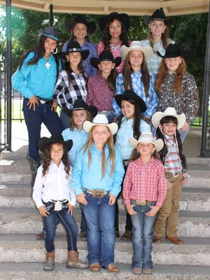 The Southwestern New Mexico State Fair Royalty Pageant will select four winners from this group to reign over the fair festivities, Oct. 6-9, in Deming. The pageant is at 6 p.m. on Thursday, Oct. 6, in the staged fairbuilding. The titles at stake are: Pee Wee Princess, grade K-2; Junior Princess, grades 3-5; Princess, grades 6-8; and Queen, grades 9-12. The contestants are, back row, from left, Queen candidates Hannah Mesa, Lizette Gonzalez and Jaida Green. Second row, from left, Princess candidates are: Moniqa Enciso, Trinity Ruebush, Emily Davenport, Paci Nevarez and Calleigh Sweetser. Third row, from left, Junior Princess candidates are: Kiley Ziller, Aubrey Almanza and Selena Love Flores Baca. In front, from left, Pee Wee Princess candidates are: Deja Enciso, Grady Nevarez and Kendahl Bingham.