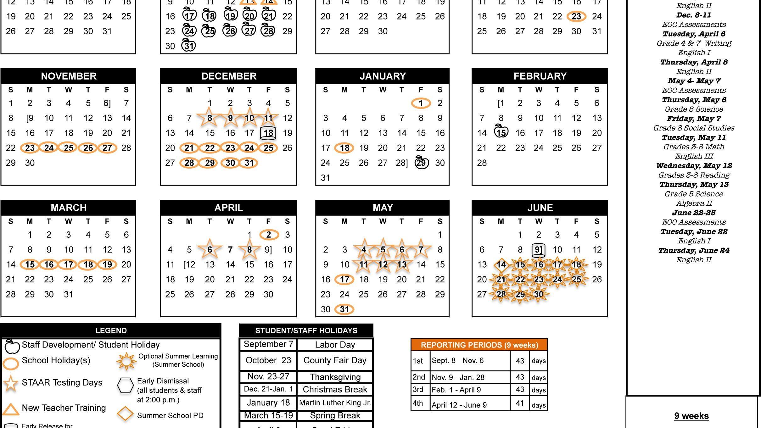 Pictures of Arlington Isd Calendar 2021
